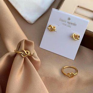 Womens Copper Niche light luxury full button rhinestone love folding Earrings OM190419118267's discount tags