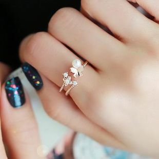 Womens Insect Plating  Butterfly beads cute Alloy Rings MS190419118271's discount tags