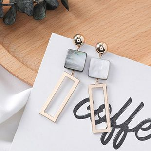 Womens Geometry Electroplating Alloy Earrings MS190419118273's discount tags