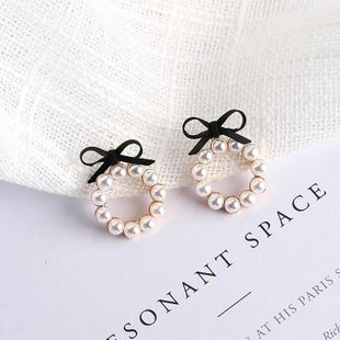 Womens Bow Plating Alloy Earrings MS190419118275's discount tags