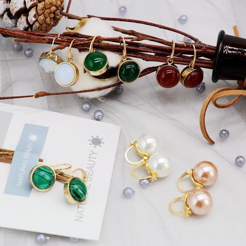 Womens Other Beads earrings  natural stone beads Earrings OM190419118283
