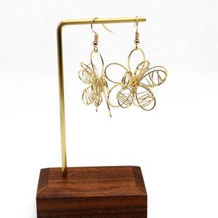 Womens  Hand-woven openwork flowers Earrings OM190419118307's discount tags