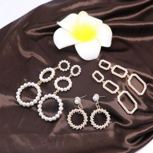 Womens Other Millet beads round hollow long section short paragraph Earrings OM190419118309's discount tags