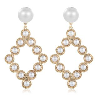Womens Geometry Electroplating  Personality beads geometry Alloy Earrings VA190419118334's discount tags