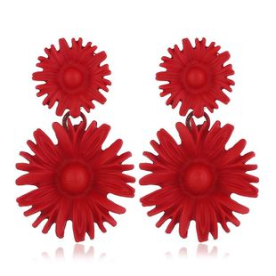 Womens Floral Plating Alloy  Style personality metal flower Earrings VA190419118342's discount tags