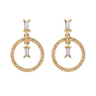 Womens Geometric ring with rhinestones Alloy Earrings QD190419118363's discount tags