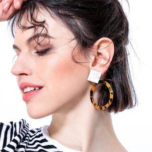 Womens Geometric Plating Acrylic Wild ring Earrings QD190419118362's discount tags