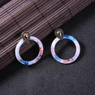 Womens Geometric  Sexy personality leopard print Rhinestone Acrylic Earrings QD190419118370's discount tags