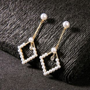 Womens Geometric  Fashion temperament Rhinestone Alloy Earrings QD190419118372's discount tags