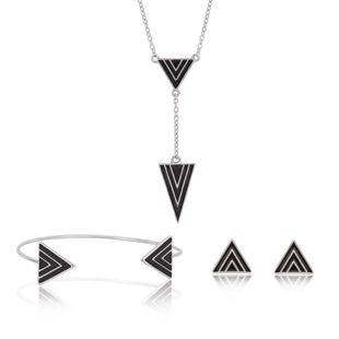 Womens rhinestone Alloy Triangle Jewelry Set XS190419118388's discount tags
