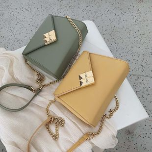Simple and versatile chain shoulder messenger bag fashion texture small square bag TC190420118501's discount tags