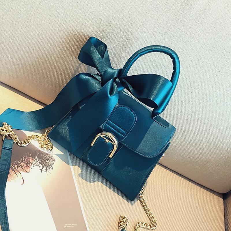 New Bow Handbag Crossbody Bag Wild Chain Shoulder Bag XC190420118541
