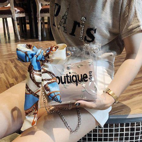 Nueva jalea niño madre bolsa moda coreana salvaje solo hombro honda bufanda bolso XC190420118561's discount tags