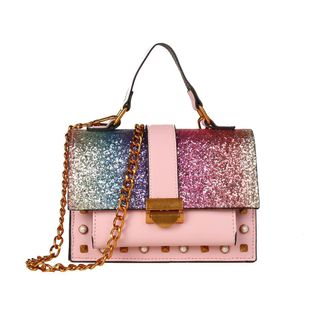 New fashion sequins shoulder bag versatile messenger bag XC190420118562's discount tags