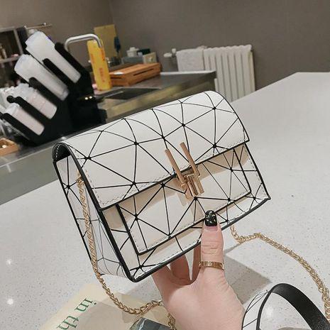 Hong Kong style sac à bandoulière version coréenne de la couture laser oblique petit paquet carré XC190420118568's discount tags