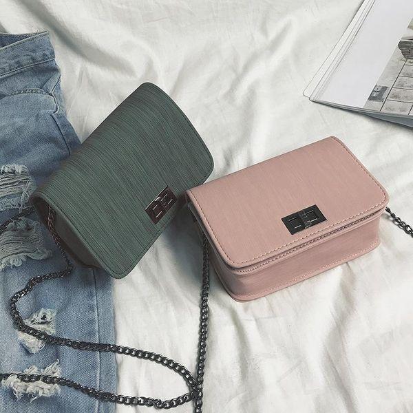 PU New single shoulder small square bag cloth twist lock small bag XC190420118574
