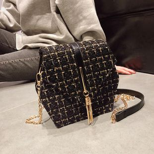 PU Fashion vintage chain bag female XC190420118575's discount tags
