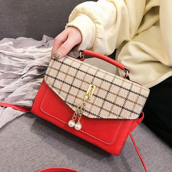 PU Backpack New wave Korean version of the wild handbag fashion shoulder Messenger bag  XC190420118588
