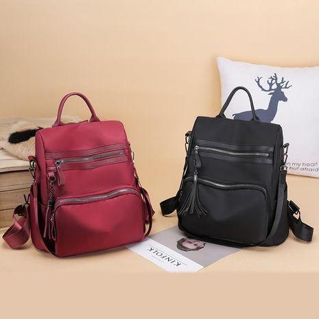 Nuevo estilo retro borla mochila antirrobo mochila de viaje Messenger bag XC190420118590's discount tags