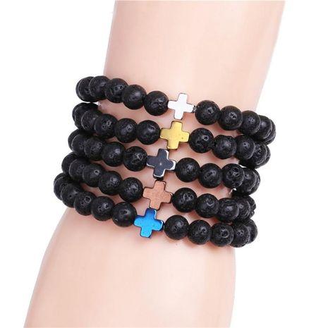Unisex Cross Electroplating Black Gallstones Bracelets & Bangles YL190422118601's discount tags