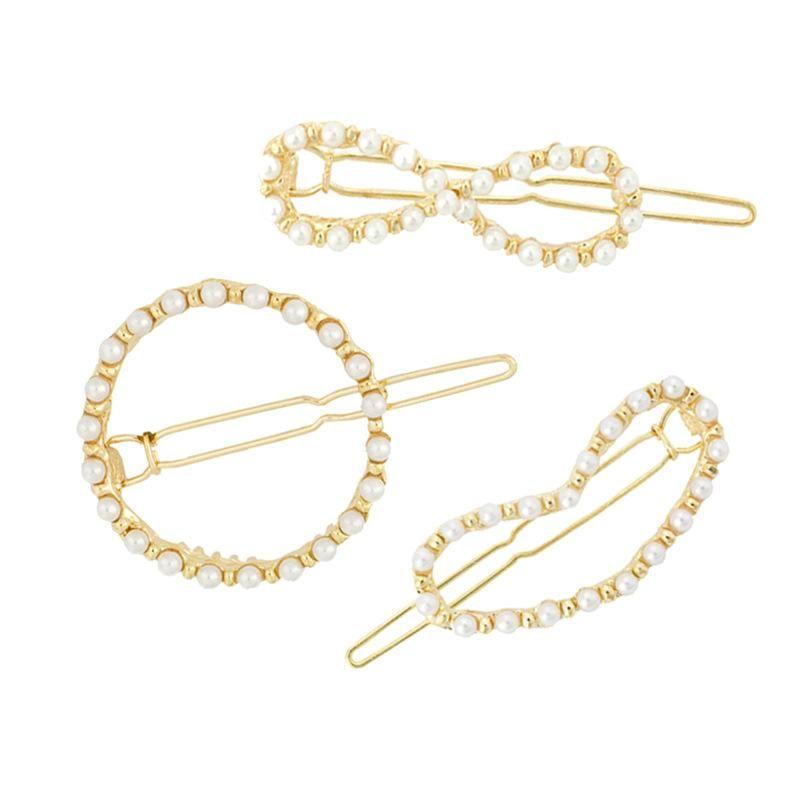 Womens geometric plating alloy Minimalist geometric circle Hair Accessories HN190422118618