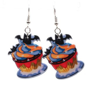 Couple Style  Mens  Womens Halloween Pumpkin  Hat  Bat Acrylic Earrings YL190422118625's discount tags