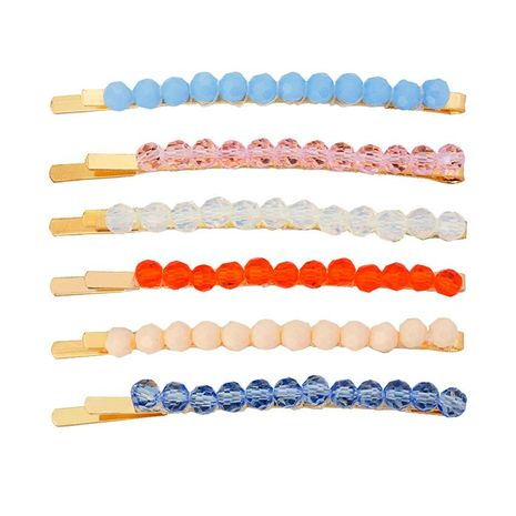 Womens geometric plating imitated crystal Weaving Hair Accessories HN190422118627's discount tags