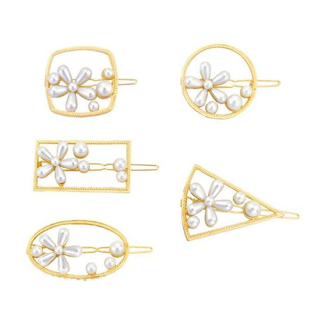 Womens Floral Electroplating Alloy Flower Hair Accessories HN190422118629's discount tags