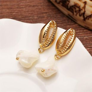 Unisex shell alloy  shell  Creative Earrings PJ190422118669's discount tags