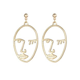 Womens palms  face contour alloy Hollow face slap retro  ethnic style  minimalist Earrings PJ190422118674's discount tags