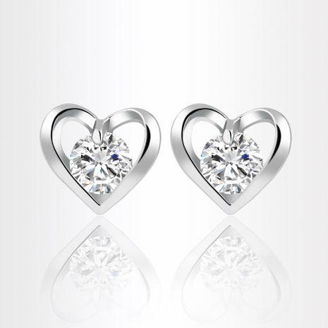 Womens Heart Shaped Alloy  Earrings PJ190422118682's discount tags