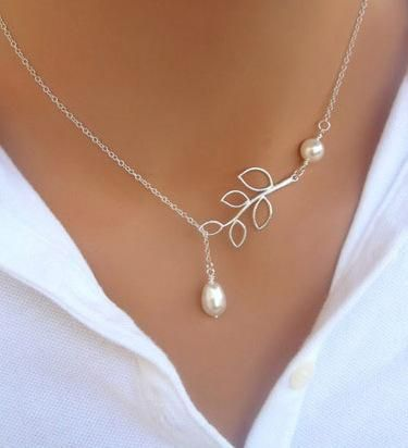 Womens U-shaped beads Water droplet cross Necklaces PJ190422118693