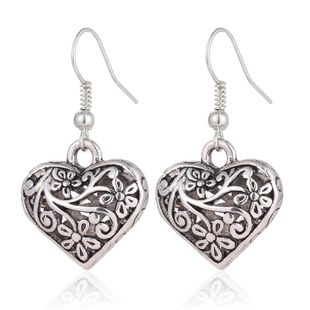 Womens geometric hollow  love alloy retro  ethnic style  simple Earrings PJ190422118701's discount tags