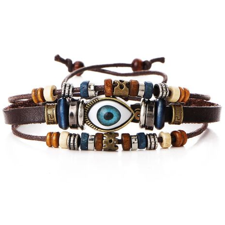 Unisex geometric leather rope  wax rope  adjustable leather  Bracelets & Bangles PJ190422118704's discount tags