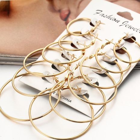 Womens Geometric Plating Alloy Other Stud earring set PJ190422118712's discount tags