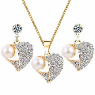 Womens electroplating alloy Jewelry set sweater necklace PJ190422118715's discount tags