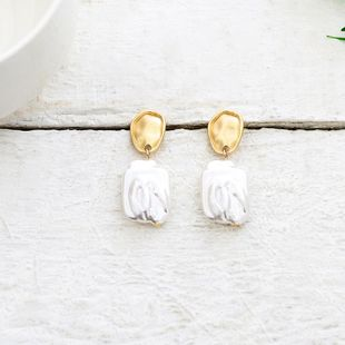 Womens Geometry Electroplating Alloy Earrings QS190422118741's discount tags