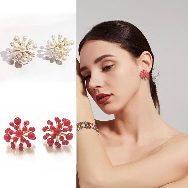 Womens Geometry Electroplating Alloy Earrings KQ190423118775