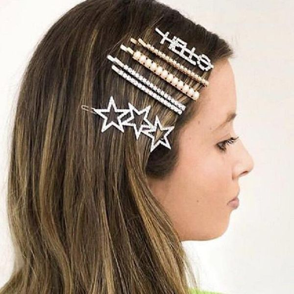 Womens Geometry Electroplated Alloy Magnesium Hair Accessories MD190423118783