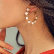 Boucles d'oreilles en alliage d'huile Sun God Moon God God MD190423118806 pour femme