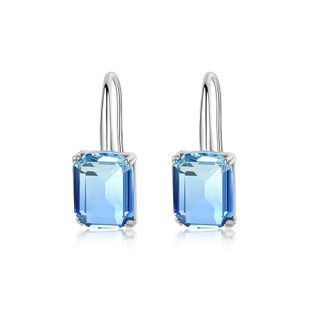 Womens Geometric Copper Inlay Zircon Earrings TM190423118877's discount tags