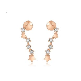 Womens Geometric Electroplated Copper Inlay AAA Zircons Metals Earrings TM190423118879's discount tags