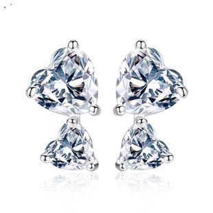 Womens Heart-Shaped Copper  Simple and stylish Inlay Zircons TM190423118882's discount tags