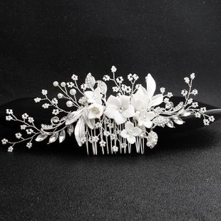 Womens floral electroplated beads Comb HS190423118894's discount tags