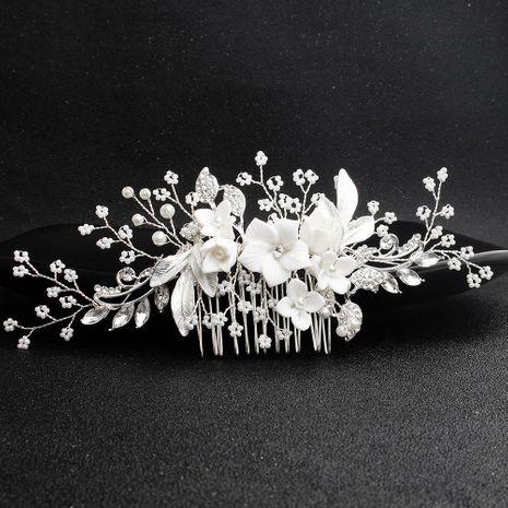 Peine de perlas electrochapadas florales para mujer HS190423118894's discount tags