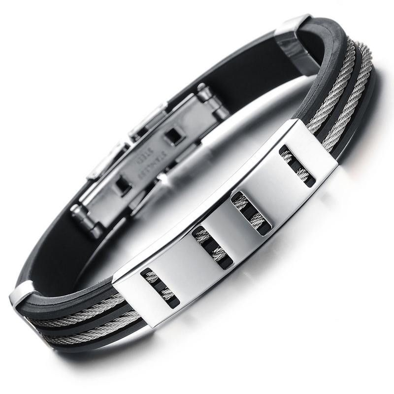 Unisex Geometric Silicone Bracelets & Bangles OP190423118896