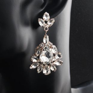 Womens Floral Rhinestone Alloy Mi Anino Earrings HS190423118906's discount tags