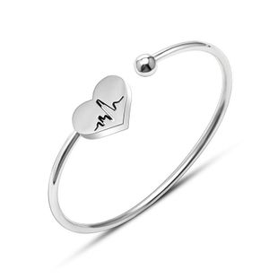 Womens Geometric Titanium Steel Bracelets & Bangles OK190423118913's discount tags