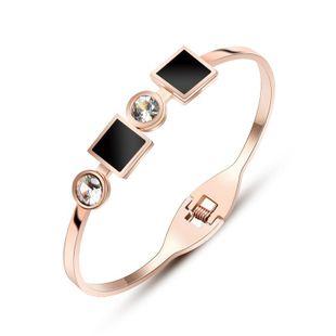 Womens Geometric Stainless Steel Bracelets & Bangles OK190423118918's discount tags