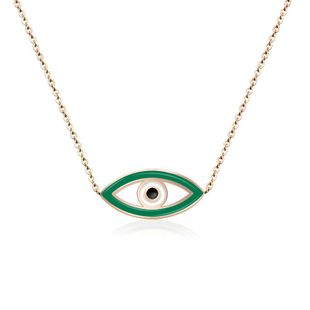 Womens Eye Plating Titanium Steel Necklaces OK190423118922's discount tags